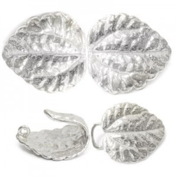 33mm Leaf Clasp Sterling Silver .925 2 Sets