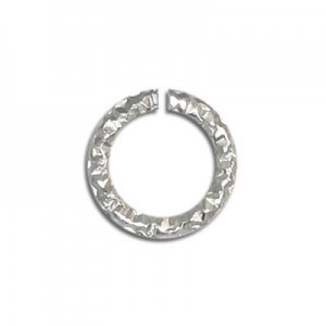 3.4mm (0.7mm Wire) Glitter Open Jump Ring Sterling Silver 100pcs