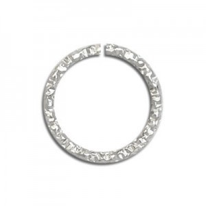 5.5mm (0.7mm Wire) Glitter Open Jump Ring Sterling Silver 50pcs