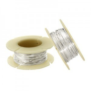 .010 Inch (0.25mm) 30g Half Hard Wire 1 Oz Spool (Approx.195ft) Sterling Silver .925 1 Spool