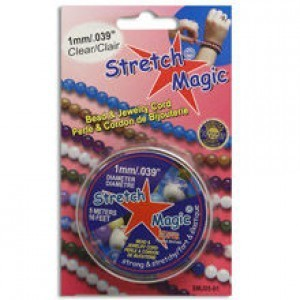 Stretch Magic® 1mm Clear - 5 Meters Elastic Jewelry Cord