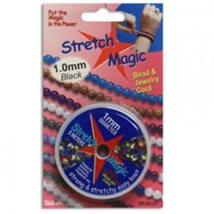 Stretch Magic® 1mm Black - 5 Meters Elastic Jewelry Cord