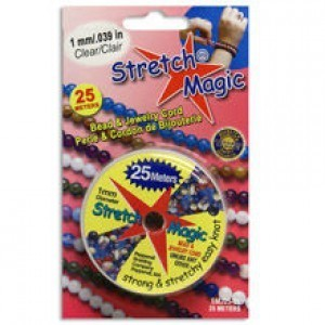 Stretch Magic® 1mm Clear - 25 Meters Elastic Jewelry Cord