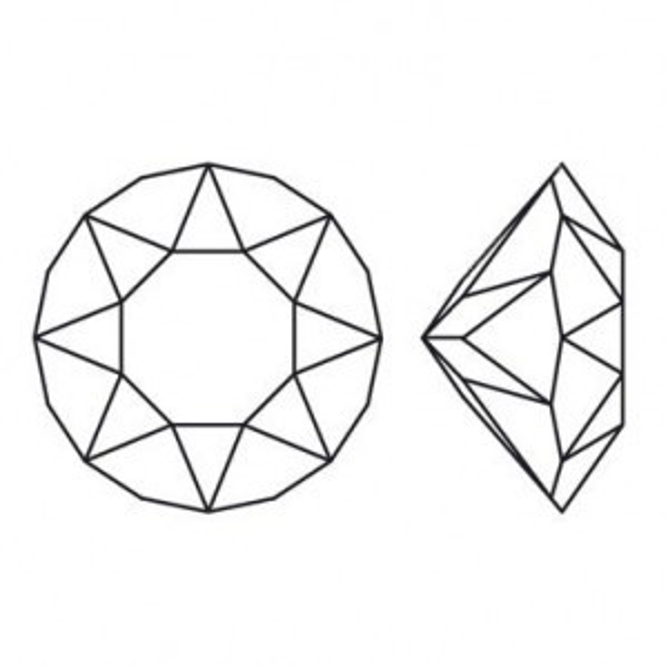 28pp Pointed Back Chatons Fuchsia Foiled Art. 1088 Swarovski® Austrian Crystal Stones