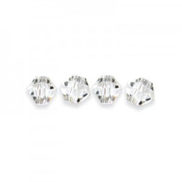 4mm Crystal Swarovski® Bicone Bead 36pcsx4