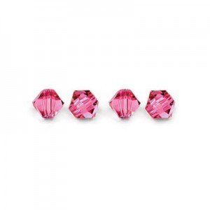 6mm Rose Swarovski® Bicone Bead 18pcsx4