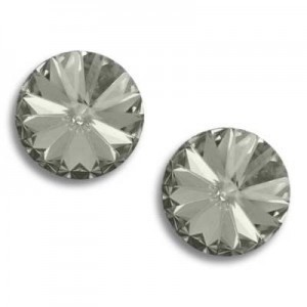 24ss (5.35mm) Rivoli Black Diamond Foiled Art. 1122 Swarovski® Austrian Crystal Stone