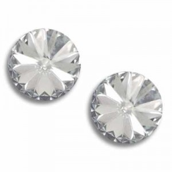 14mm Rivoli Crystal Silver Shade Foiled Art. 1122 Swarovski® Austrian Crystal Stones