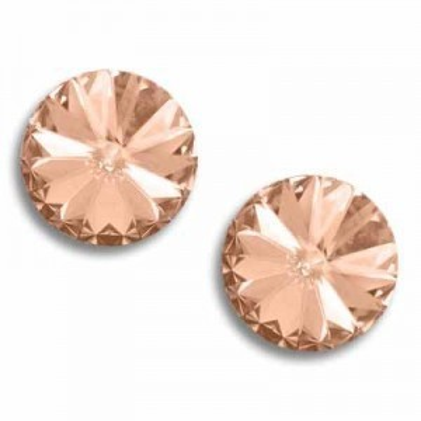 14mm Rivoli Light Peach Foiled Art. 1122 Swarovski® Austrian Crystal Stones