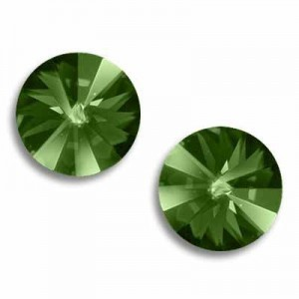 14mm Rivoli Peridot Foiled Art. 1122 Swarovski® Austrian Crystal Stones