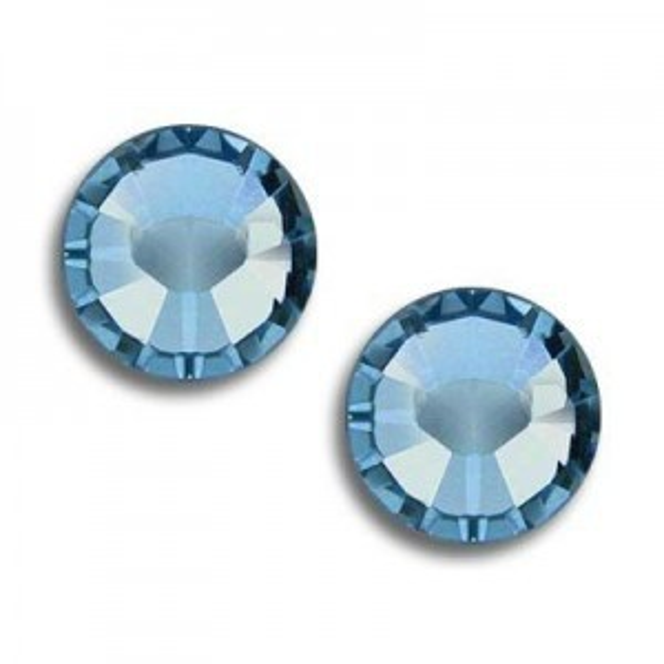 12ss Xilion Flatback Aquamarine Foiled Art. 2058 Swarovski® Austrian Crystal Stones