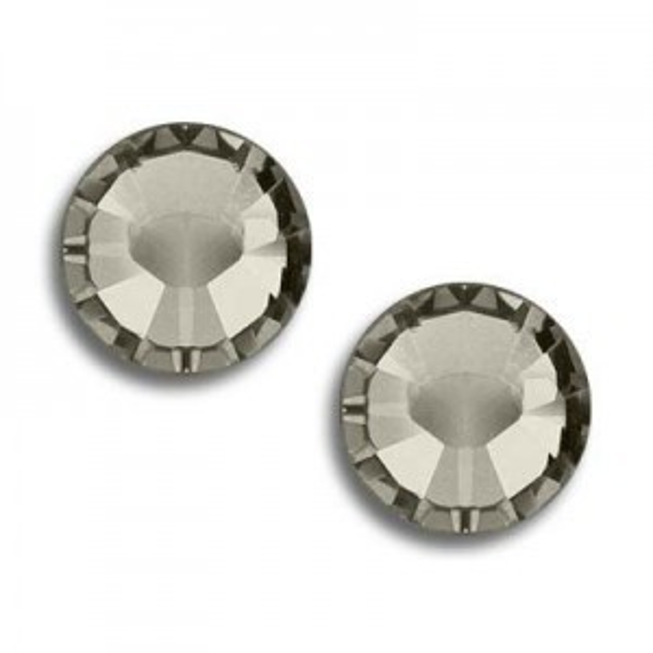 6ss Xilion Flatback Black Diamond Foiled Art. 2058 Swarovski® Austrian Crystal Stones
