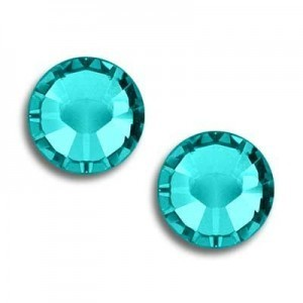7ss Xilion Flatback Blue Zircon Foiled Art. 2058 Swarovski® Austrian Crystal Stones