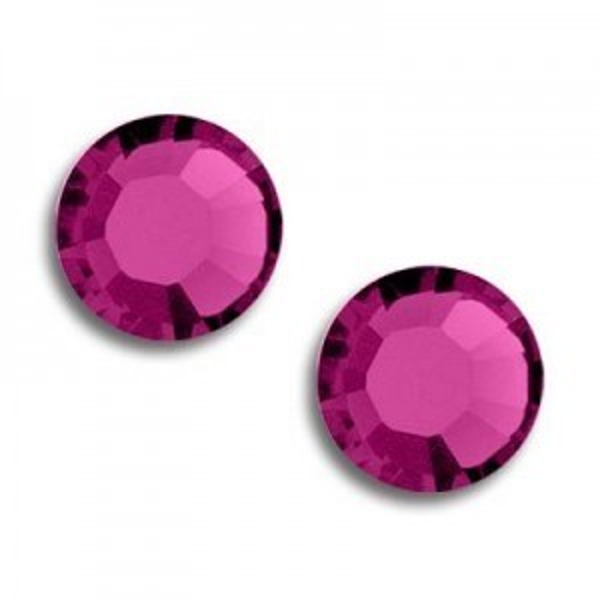 10ss Xilion Flatback Fuchsia Foiled Art. 2058 Swarovski® Austrian Crystal Stones
