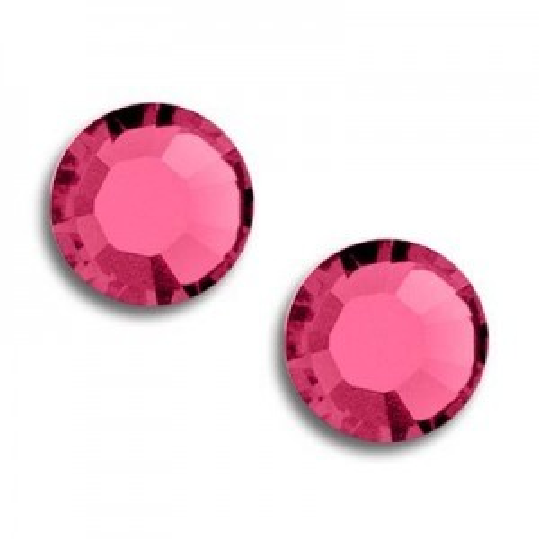 9ss Xilion Flatback Indian Pink Foiled Art. 2058 Swarovski® Austrian Crystal Stones