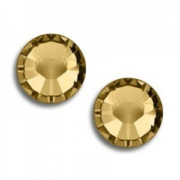 5ss Xilion Flatback Light Colorado Topaz Foiled Art. 2058 Swarovski® Austrian Crystal