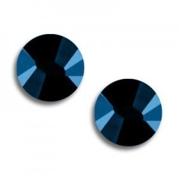 9ss Xilion Flatback Crystal Metallic Blue Foiled Art. 2058 Swarovski® Austrian Crystal