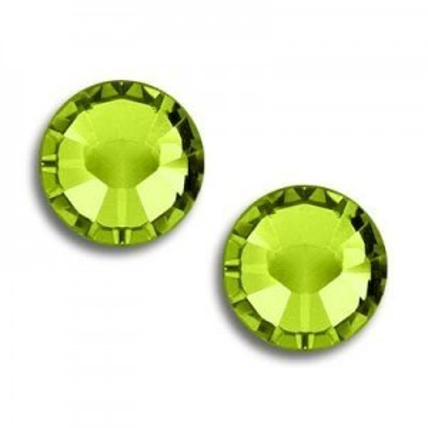 9ss Xilion Flatback Olivine Foiled Art. 2058 Swarovski® Austrian Crystal Stones