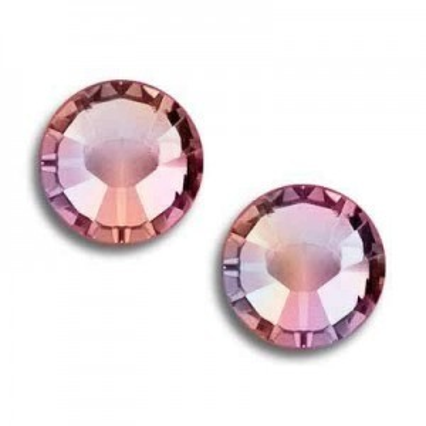 12ss Xilion Flatback Rose AB Foiled Art. 2058 Swarovski® Austrian Crystal Stones