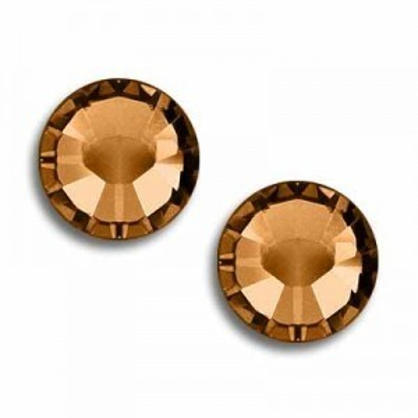 10ss Xilion Flatback Topaz Foiled Art. 2058 Swarovski® Austrian Crystal Stones