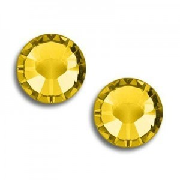 10ss Xilion Hotfix Light Topaz Art. 2028hf Swarovski® Austrian Crystal Stones