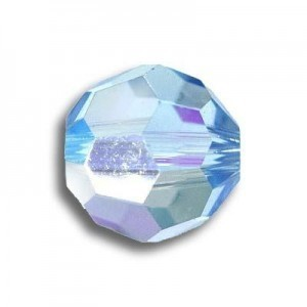 8mm Round Aquamarine AB Art. 5000 Swarovski® Austrian Crystal Beads