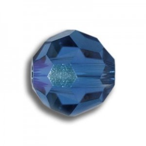 8mm Round Capri Blue Art. 5000 Swarovski® Austrian Crystal Beads