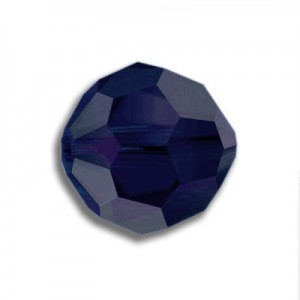 8mm Round Dark Indigo Art. 5000 Swarovski® Austrian Crystal Beads
