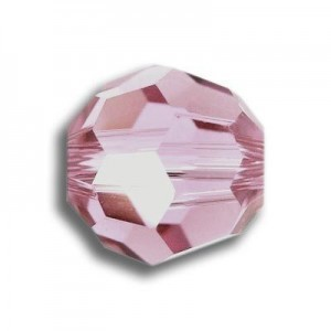 3mm Round Light Rose Art. 5000 Swarovski® Austrian Crystal Beads
