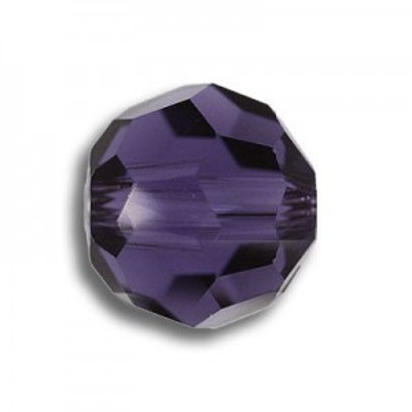 4mm Round Purple Velvet Art. 5000 Swarovski® Austrian Crystal Beads