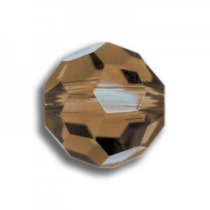 4mm Round Smoked Topaz Art. 5000 Swarovski® Austrian Crystal Beads
