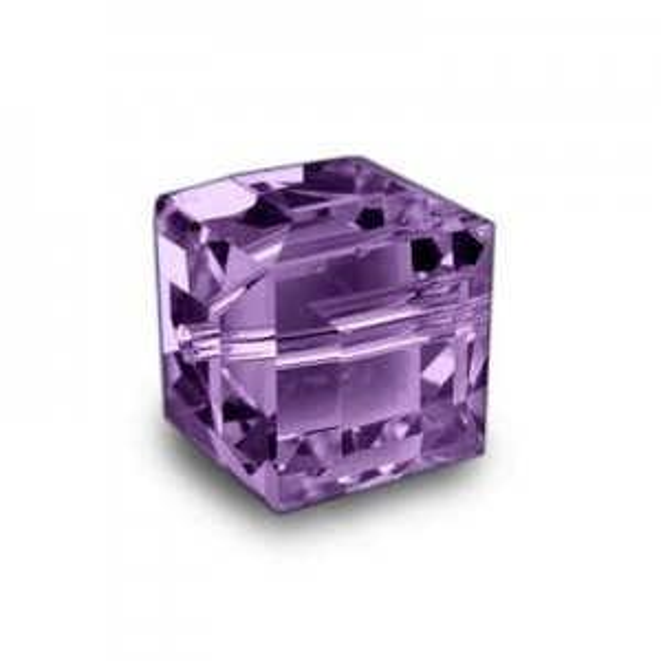 6mm Cube Amethyst Art. 5601 Swarovski® Austrian Crystal Beads