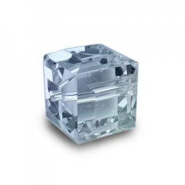 8mm Cube Aquamarine AB Art. 5601 Swarovski® Austrian Crystal Beads