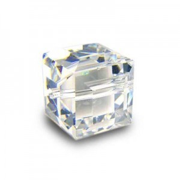 8mm Cube Crystal AB Art. 5601 Swarovski® Austrian Crystal Beads