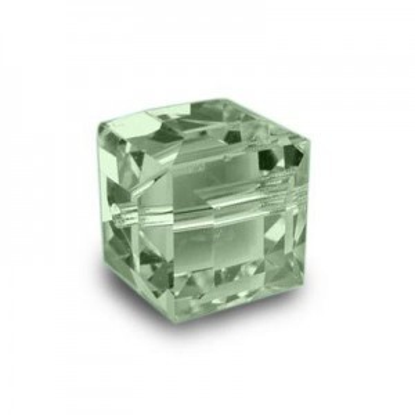 6mm Cube Chrysolite Art. 5601 Swarovski® Austrian Crystal Beads