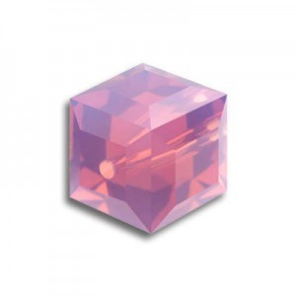 8mm Cube Cyclamen Opal Art. 5601 Swarovski® Austrian Crystal Beads