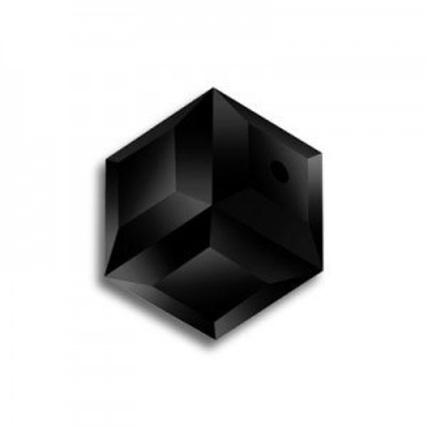 8mm Cube Jet Art. 5601 Swarovski® Austrian Crystal Beads