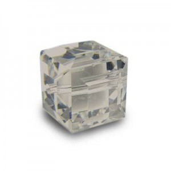 6mm Cube Light Grey Opal Art. 5601 Swarovski® Austrian Crystal Beads