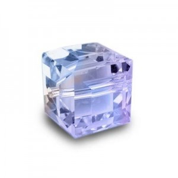 4mm Cube Light Sapphire AB Art. 5601 Swarovski® Austrian Crystal Beads