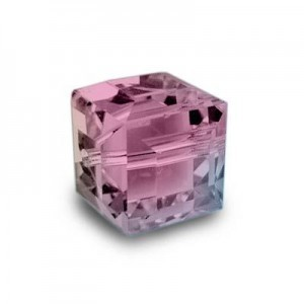 6mm Cube Rose AB Art. 5601 Swarovski® Austrian Crystal Beads