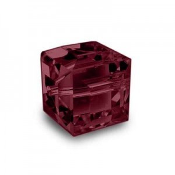 8mm Cube Siam Art. 5601 Swarovski® Austrian Crystal Beads