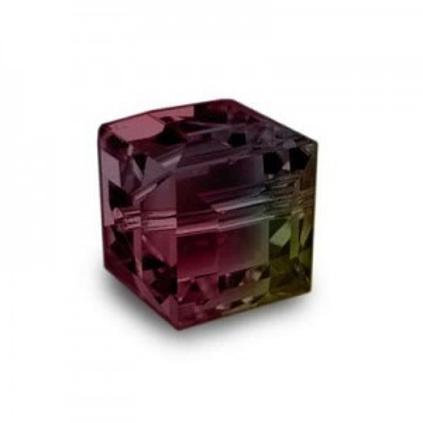 4mm Cube Siam AB Art. 5601 Swarovski® Austrian Crystal Beads