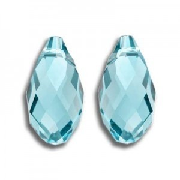 13x6.5mm Briolette Aquamarine Art. 6010 Swarovski® Austrian Crystal Pendants