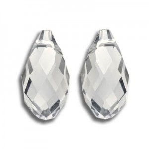 17x8.5mm Briolette Crystal Silver Shade Art. 6010 Swarovski® Austrian Crystal Pendant