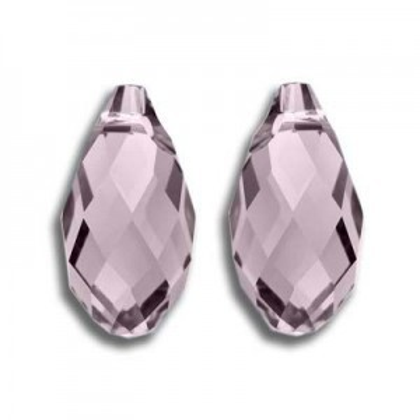 13x6.5mm Briolette Light Amethyst Art. 6010 Swarovski® Austrian Crystal Pendants