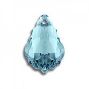 16x11mm Baroque Pendant Aquamarine Art. 6090 Swarovski® Austrian Crystal Pendants