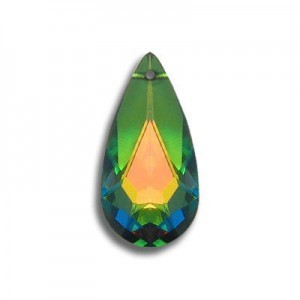 24x12mm Teardrop Pendant Crystal Vitrail Medium Art. 6100 Swarovski® Austrian Crystal