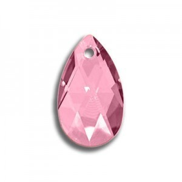 22mm Pear Pendant Light Rose Art. 6106 Swarovski® Austrian Crystal Pendants