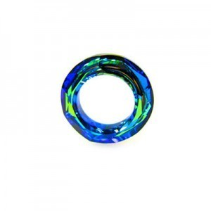20mm Bermuda Blue Austrian MC Cosmic Ring 2 Pcs