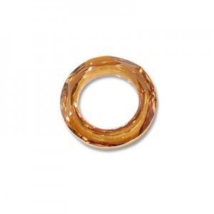 20mm Crystal Copper Austrian MC Cosmic Ring 2 Pcs